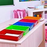 Zilpoo 5 Pack – Paper Organizer Bins, Colorful