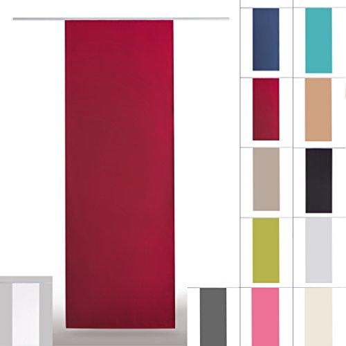 Flächenvorhang blickdicht Schiebegardine Raumteiler Schiebevorhang ca.60cm x 245cm, Auswahl: mit Technik, rot - salsa