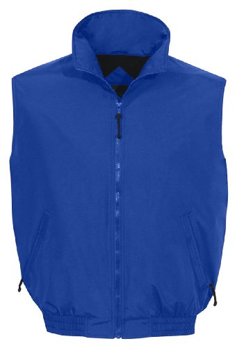 Tri-Mountain 8400 Ridge Rider Windproof/Water Resistant Toughlan Nylon Vest, IMPERIAL BLUE / NAVY, X-Large - Golf Wind Vests