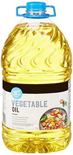Amazon Brand - Happy Belly Vegetable Oil, 1 Gallon (128 Ounces)