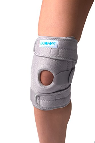 (Knee Stabilizer Brace I Open Patella Design for Arthritis, ACL, LCL, MCL, Meniscus Tear, Sports, and Professional I Triple Precision Straps, Odor Resistant, Non Slip I Adjustable (Gray))