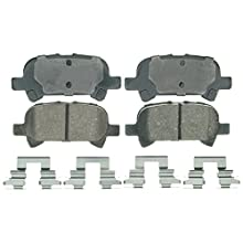 Wagner QuickStop ZD828 Ceramic Disc Pad Set Includes Pad Installation Hardware, Rear