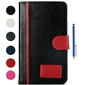 DUR Rock Crystal Stripe Design PU Leather Full Body Case and Capacitance Pen for Samsung Galaxy Tab4 7.0 T230 (Assorted Colors) , Gray