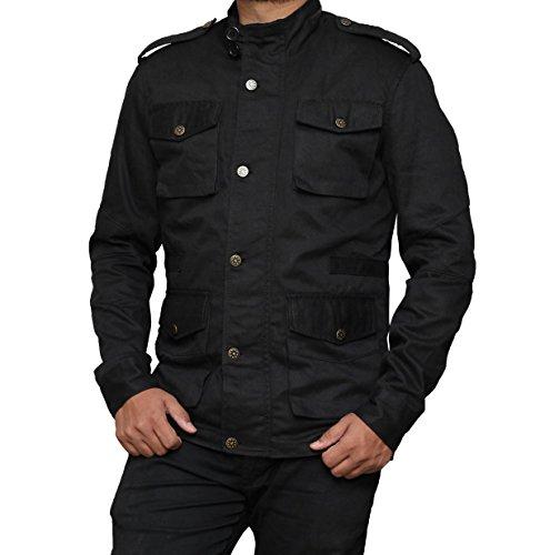 Daredevil Black Costumes (Decrum The Punisher Jacket Daredevil - Black Cotton Costume Outfit - XS)