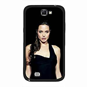 Sexy And Hot Angelina Jolie Characterized Image funda,Durrable Case Cover For Samsung Galaxy Note 2