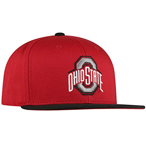 Top of the World Ohio State Buckeyes Maverick Youth Flat Bill Snapback Adjustable Hat (State Flat Ohio Bill Buckeyes Hat)