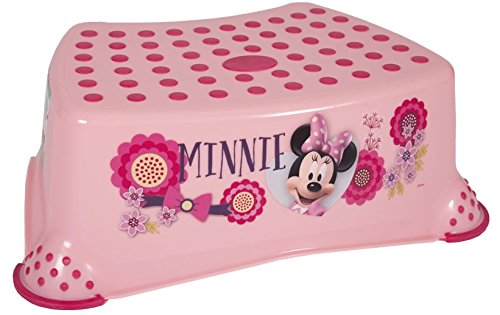 Disney Minnie Mouse Baby Child /& Toddler Step Stool 14cm//5.5 Pink Strong Plastic 90kg//200lb Capacity Non Slip//Skid Safety Rubber Surface /& Feet for Toilet//Potty Training Lightweight Portable