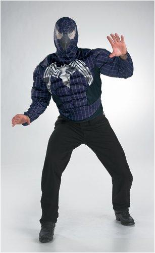 Venom Muscle Adult Halloween Costume Size 42-46 -