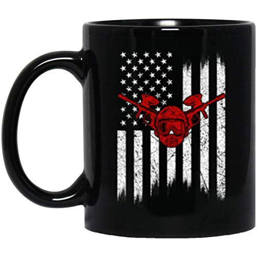 American Flag Paintball Coffee Mug for Men Women Paintball Gift