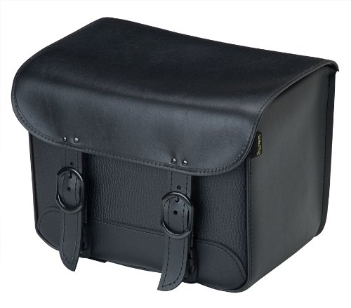 Dowco Willie & Max 59592-00 Black Jack Series: Synthetic Leather Motorcycle Tour Trunk, Black, Universal Fit, 20 Liter Capacity
