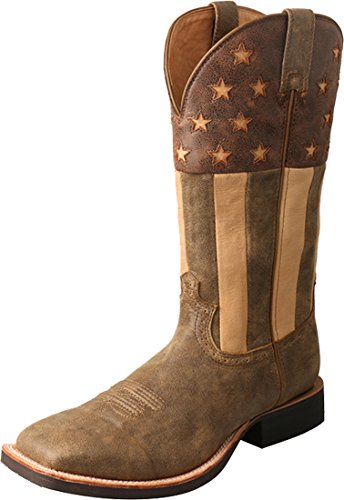 Twisted X MRS0059 Men's Ruff Stock Boot, Bomber/Ivory - 10.5 D ()