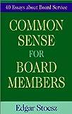 Common Sense for Board Members, Edgar Stoesz, 1561483192