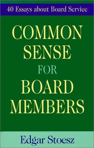 Read Online Common Sense for Board Members pdf
