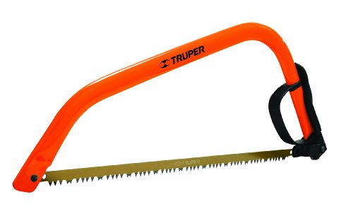Camp Saw (Truper 30255 21-Inch Steel Handle Bow Saw, Cam Lever Quick Change Blade Release, Orange)