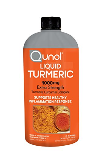 Qunol Liquid Turmeric Curcumin with Bioperine 1000mg, Anti-Inflammatory, Dietary Supplement, Extra Strength, 40 Servings