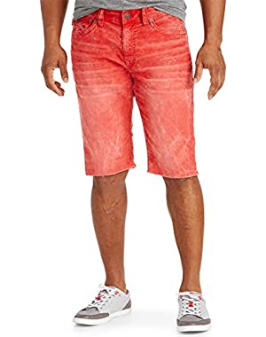 Ricky Relaxed Straight Corduroy Cut-Off Shorts Vintage Red