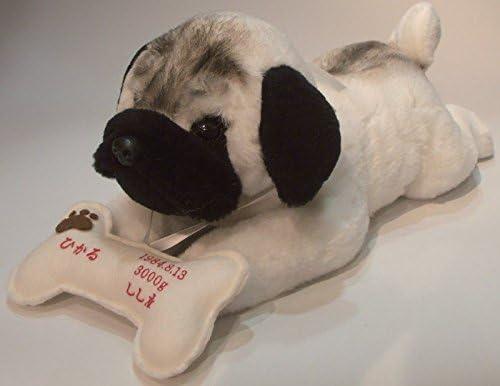 我が家の愛犬をお写真から再現オリジナルドッグ・パグ(1体) フルオーダー品おしゃぶりボーンに刺繍入り 【ウェルカムドール・ウェイトドール】