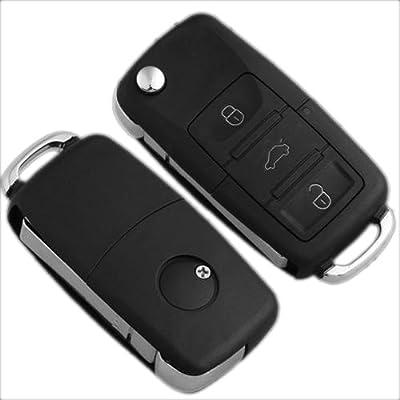 3 Botones Carcasa Llave Mando de Vehículos para VW/Golf/Polo/Bora ...