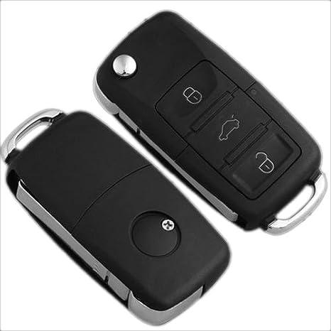 3 Botones Carcasa Llave Mando de Vehículos para VW/Golf/Polo/Bora
