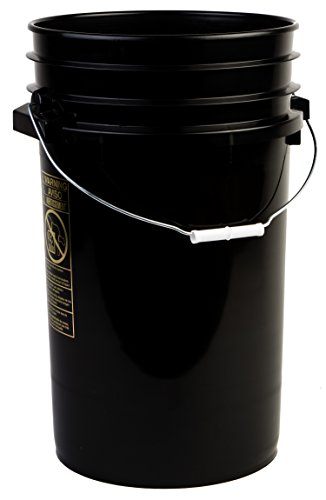 Hudson Exchange Premium 7 Gallon Bucket, HDPE, Black, 8 Pack by Hudson Exchange