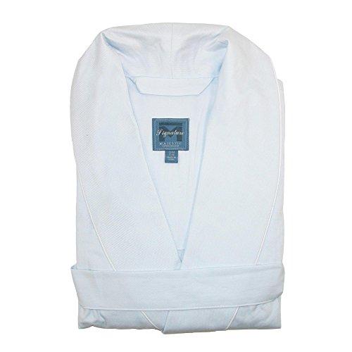 Majestic International Men's Cotton Birdseye Robe, L/XL, Blue ()