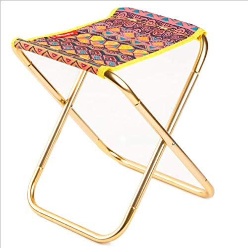 Chunsu Outdoor Folding Stool Aluminum Fishing Chair Portable Travel Beach Chair Folding Stool (Colorful) ()