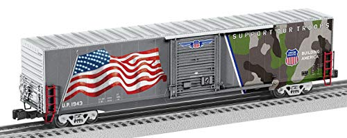 Lionel 1943 Spirit of Union Pacific LED Flag Boxcar O Scale