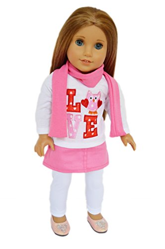 My Brittany's Valentines Day Owl Outfit for American Girl Dolls-18 Inch Doll Clothes