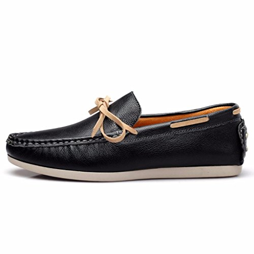 Leather Moccasins Moonwalker Black Laced Mens 5qURPA