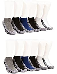 Men's 12 Pack Half Cushion No Show Athletic Sock