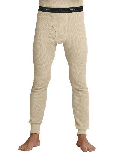 Hanes Men's X-Temp Thermal Pant, Natural, - Cotton Underwear Thermal