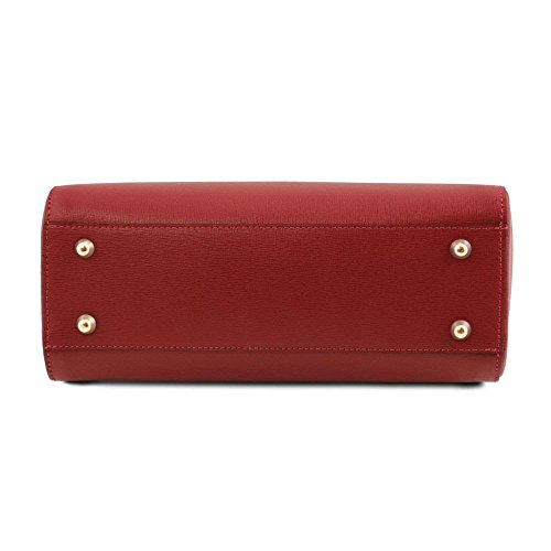 Leather Sacs TL141628 Rouge en Bag Tuscany TL à cuir main RZdSqw