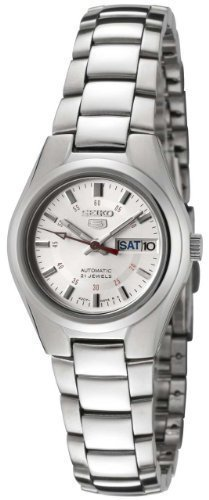 Seiko Women's 5' Japanese Automatic Stainless Steel Casual Watch, Color:Silver-Toned (Model: SYMC21)