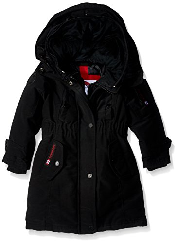 Gear Styles Outerwear black Jacket More Weather Available Hooded Canada Parka Toddler cw046 White Girls' 4qaZAR