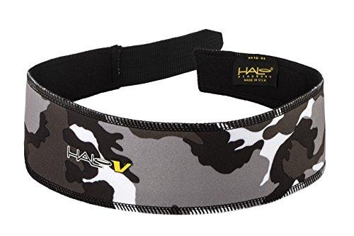 Halo Headband V Velcro Sweatband - Camo Gray