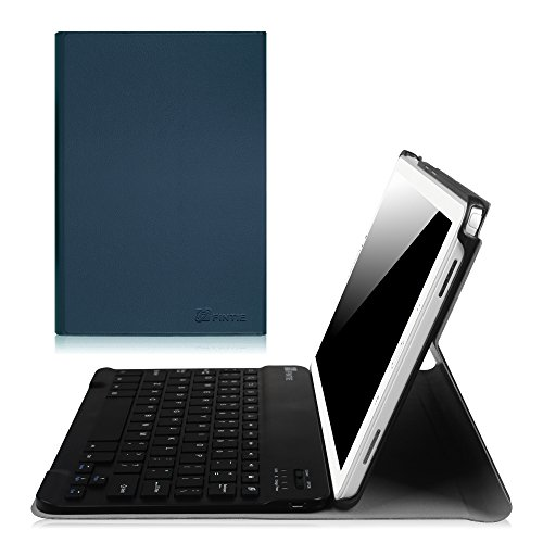 Fintie Keyboard Case for Samsung Galaxy Tab A 10.1 with S Pen, Slim Shell Light Weight Stand Cover with Detachable Wireless Bluetooth Keyboard for Galaxy Tab A 10.1 with S Pen(SM-P580/P585), Navy Blue