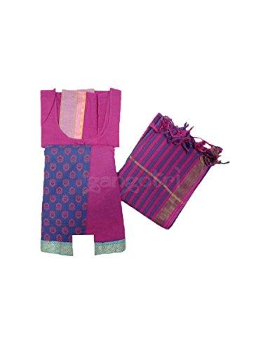 Gopi Dress Panel Border Purple