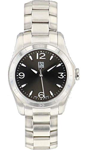 ESQ 07101173 Ladies Watch Aston Black Dial Stainless Steel - Steel Stainless Aston Watch