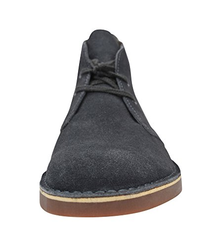 CLARKS Men Bushacre 2 Ankle Shoe Steal Blue Suede free shipping cheap AwZuwe