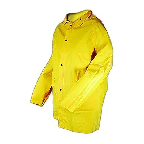 Rain Jacket Yellow 3 4XL Magid Glove /& Safety J7819-XXXXL Magid Rain Master PVC Supported 14 MIL