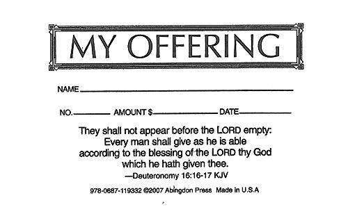- My Offering Economy Offering Envelope (Box of 500)