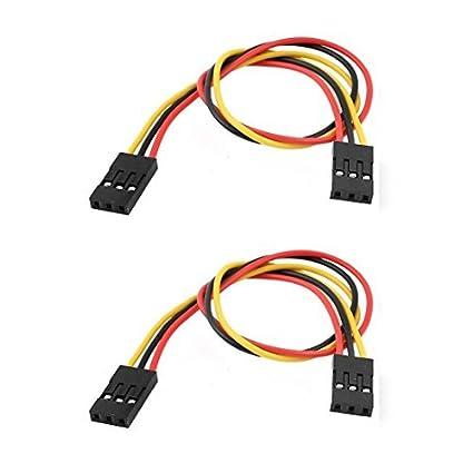 Amazon.com: eDealMax 2 piezas DE 2,54 mm de paso DE 20 cm Cable de línea 3P-3P Doble conector del cabezal: Electronics