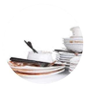 alfombrilla de ratón Los platos sucios aislados en blanco - ronda - 20cm