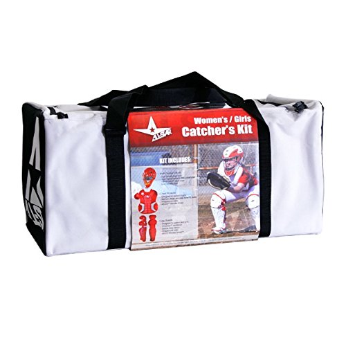 All Star Adult Fastpitch Series Complete Softball Catcher's Gear Set - Black