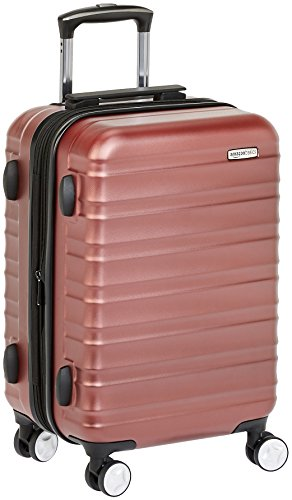 AmazonBasics Premium Hardside Spinner Luggage with Built-In TSA Lock - 20-Inch Carry-on, Red