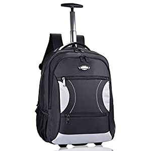 Rolling Backpack, Coofit Wheeled Backpacks Roller Backpack for Laptop up to 15 Inch