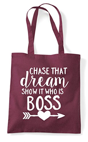 Shopper That Chase Tote Who It Dream Burgundy Is Boss Statement Show Bag HxwqpZ
