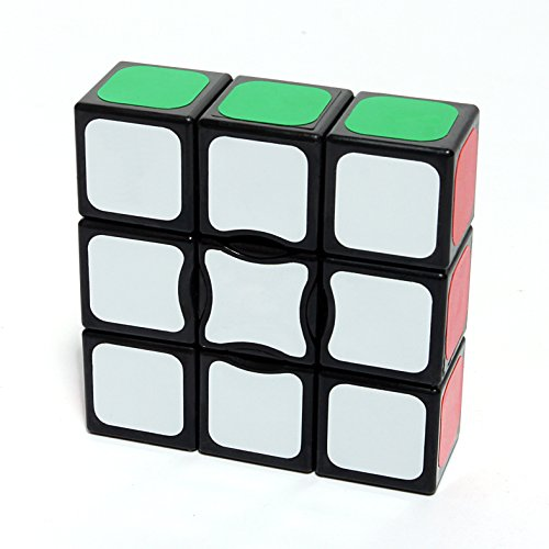 I-xun Smooth and Speed 1x3x3 Magic Cube Sticker Puzzle, (2.24 x 2.24 x 0.75 inches - Black) (1 I 1)