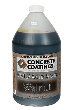 45fb3d76ad3980 VIVID Acid Stain - 1 Gal - Walnut (Rich Black W Brown Undertone ...
