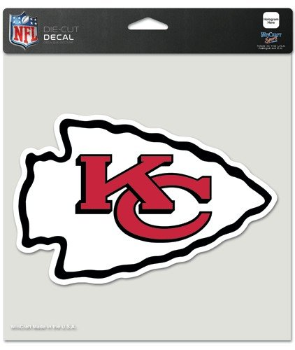 NFL Kansas City Chiefs Die-Cut Color Decal, 8